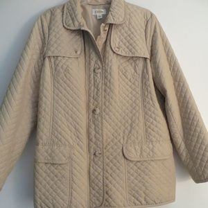TALBOTS QUILTED JACKET COAT NWOT